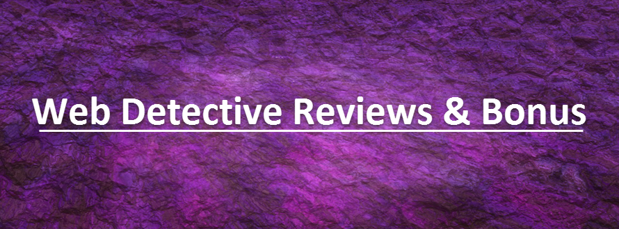 Web Detective Reviews & Bonus